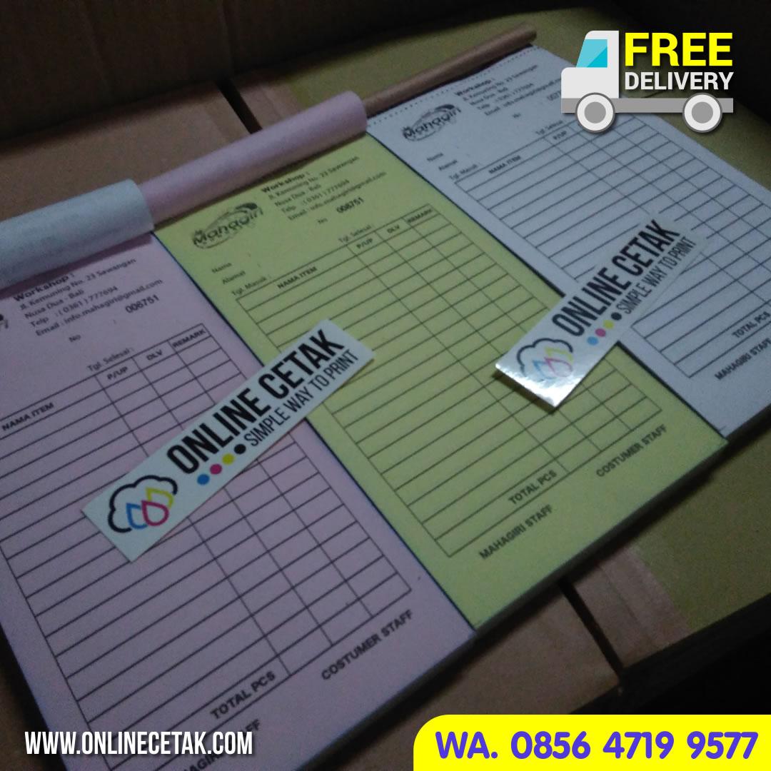 Jual Jasa Pembuatan Nota Jasa Desain Free Ongkos Kirim - Percetakan Online